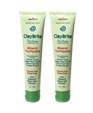 Zion Health Claybrite Toothpaste For Superior Gum Health Set Of 2 Pack, 8oz