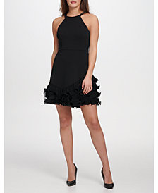 GUESS Pleated Ruffle Dress