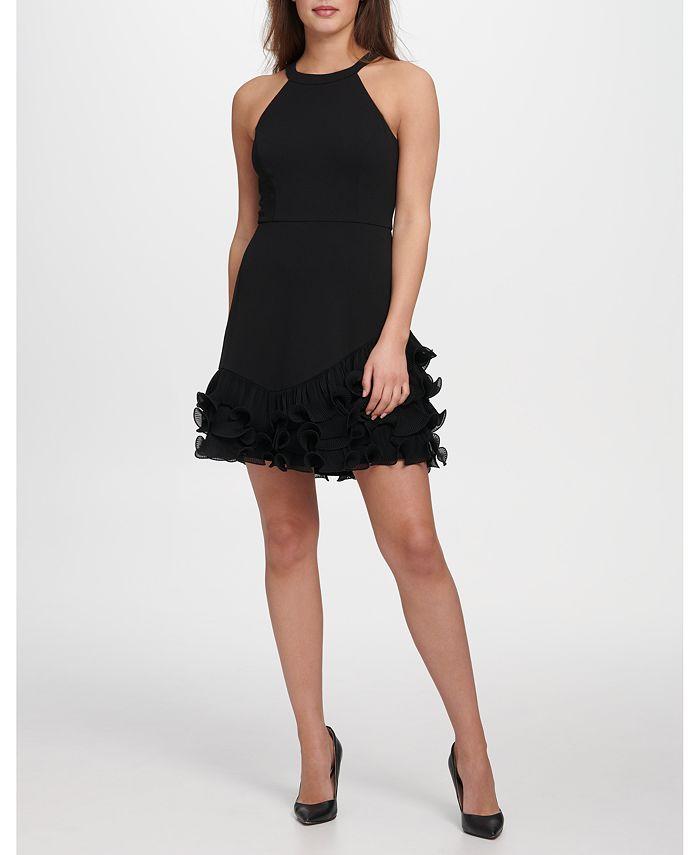GUESS - Pleated Ruffle Dress