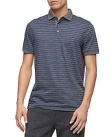 Men's Regular-Fit Yarn-Dyed Engineered Stripe Polo Shirt