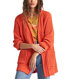 Juniors' Warm Up Chenille Cardigan