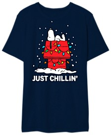Just Chillin Snoopy Men's Graphic T-Shirt