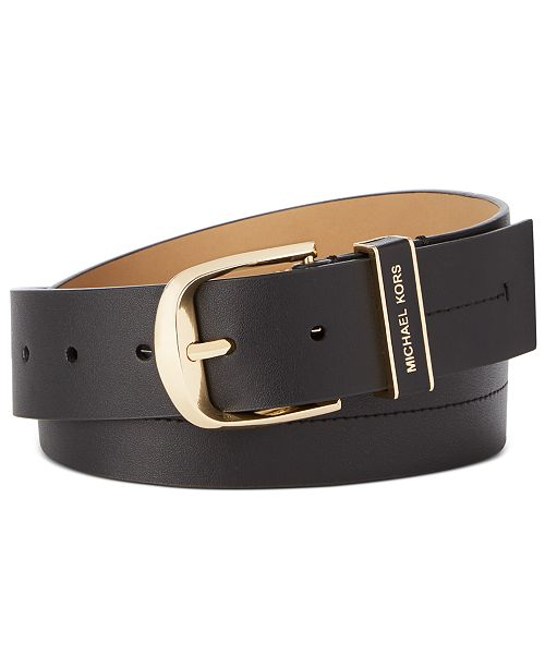 Michael Kors Leather Belt With Stitch Detail