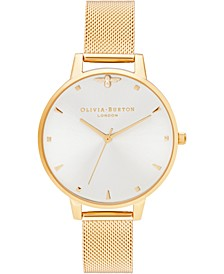 Women's Queen Bee Gold-Tone Stainless Steel Mesh Bracelet Watch 38mm