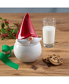 Ceramic Red Hat Gnome Canister and Cookie Jar