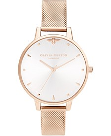 Women's Queen Bee Rose Gold-Tone Stainless Steel Mesh Bracelet Watch 38mm
