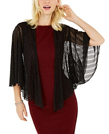 INC Cropped Metallic Shrug, Created for Macy's