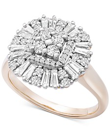 Diamond Baguette Cluster Statement Ring (3/4 ct. t.w.) in 14k Gold