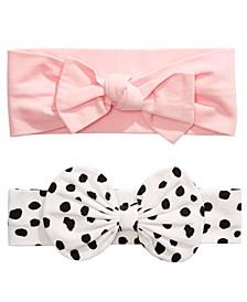 Baby Girls 2-Pk. Cotton Bow Headbands, Created for Macy's