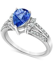 Tanzanite (1-3/8 ct. t.w.) & Diamond (1/3 ct. t.w.) Ring in 14k White Gold