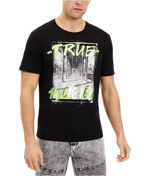 True Religion Men's Tunnel Vision Logo T-Shirt