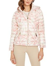 Printed Hooded Packable Puffer Jacket