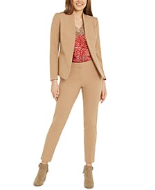 Open-Front Blazer, Printed Blouse & Career Pants, Created for Macy's