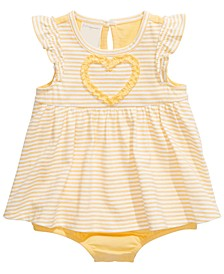 Baby Girls Cotton Skirted Romper, Created for Macy's