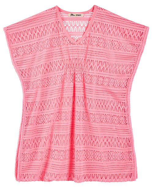 Miken Big Girls Crochet Cover Up