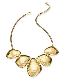 """Gold-Tone Sculptural Nugget Statement Necklace, 19"""" + 3"""" extender, Created for Macy's"""