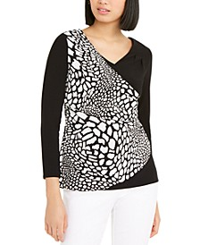 Faux-Wrap Top, Created For Macy's
