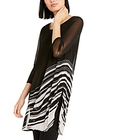 Petite Striped Super Tunic, Created for Macy's