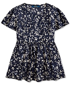 Big Girls Floral Cotton Dobby Top
