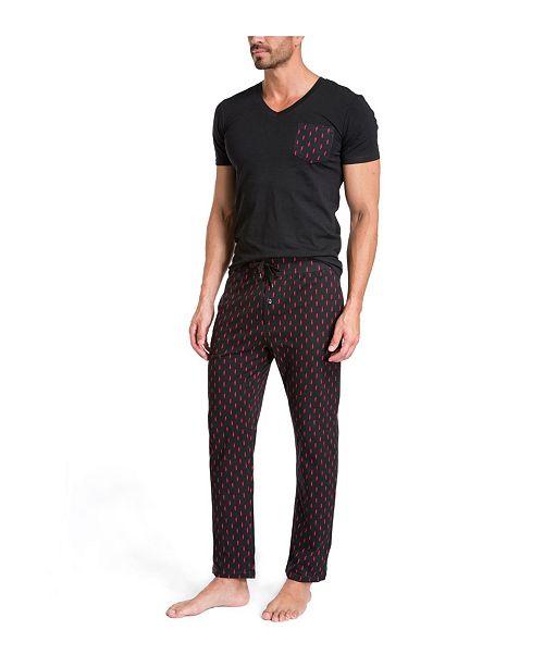 Jared Lang Pajama Set in Gift Box - Lightning Bolts