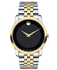 Unisex Swiss Museum Classic Two-Tone Stainless Steel Bracelet Watch 28mm 0606605