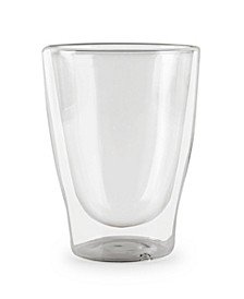 Thermax Double Wall Insulated Glass Latte Cups, Set of 2