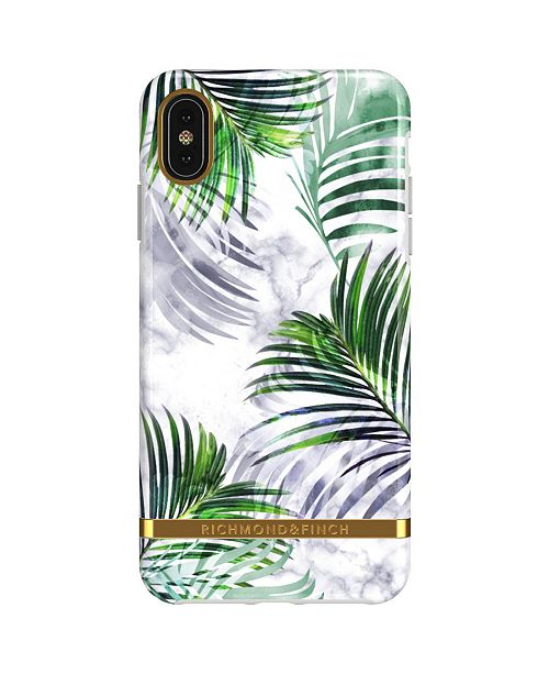Richmond&Finch White Marble Tropics Case for iPhone XS MAX