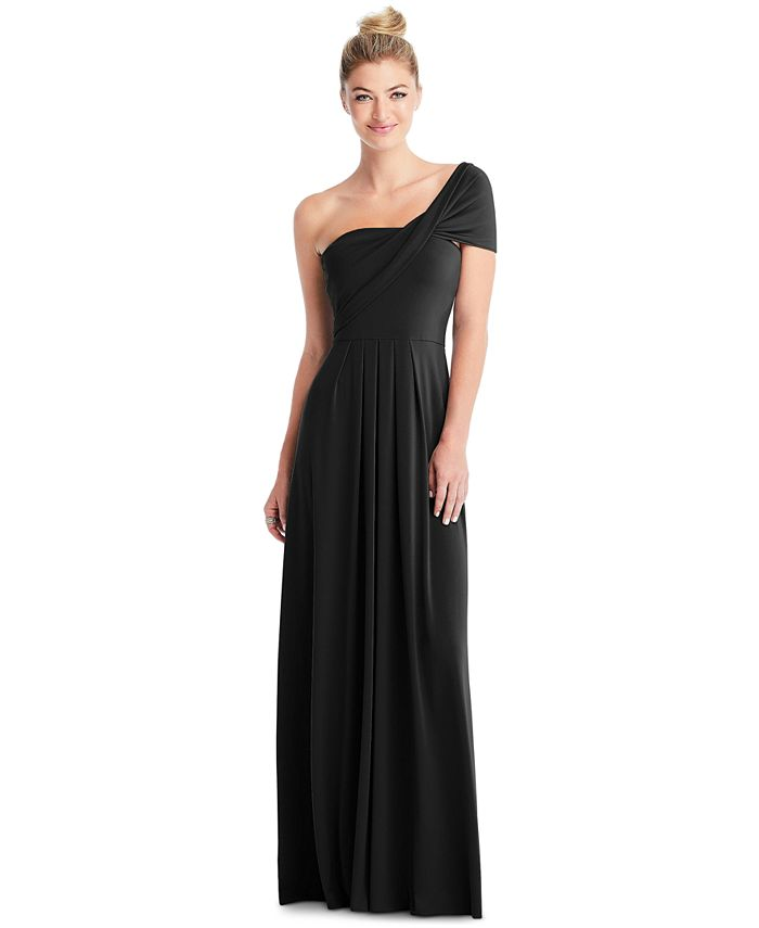 The Dessy Group - Full-Length Loop Convertible Dress & Removable Shrug