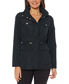 Cinched-Waist Water-Resistant Anorak