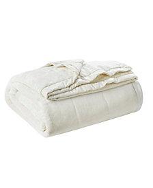 Madison Park Coleman Reversible Plush Down Alternative Blanket, Full/Queen