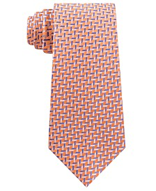 Men's Cross Over Geometric Silk Tie