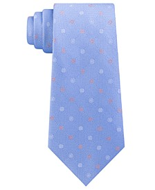 Men's Square Texture Ground and Dot Silk Tie