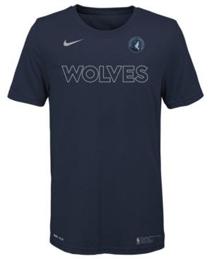 Nike Big Boys Minnesota Timberwolves Facility T-Shirt