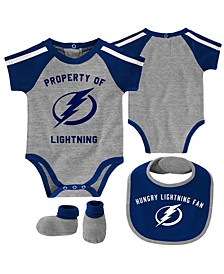 Baby Tampa Bay Lightning Hard @ Play Bib & Bootie Set