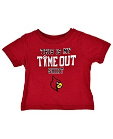 Baby Louisville Cardinals On Time Out T-Shirt