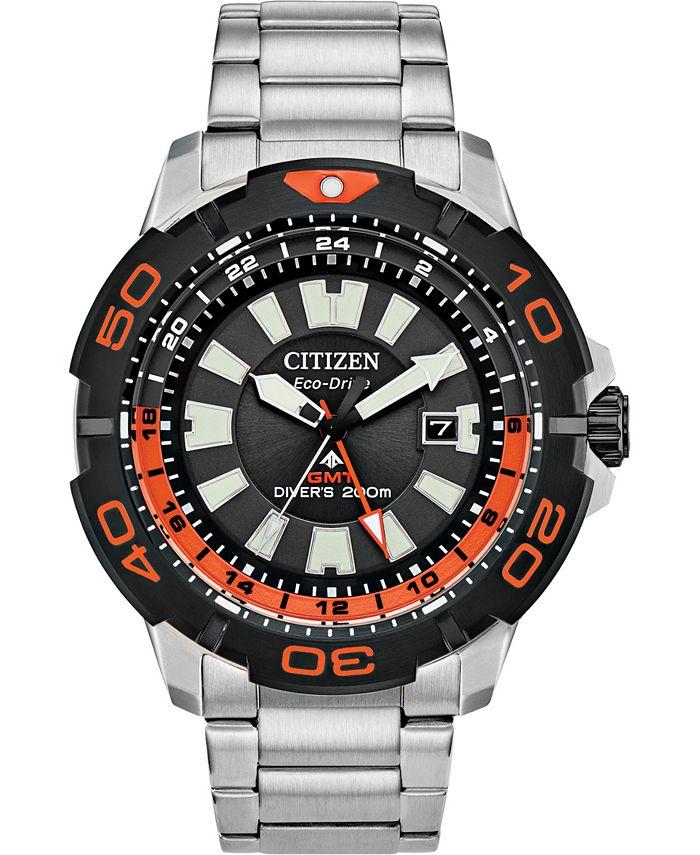 Citizen - Men's Promaster Diver Stainless Steel Bracelet Watch 44mm