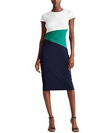 Lauren Ralph Lauren Color-Blocked Jersey Dress