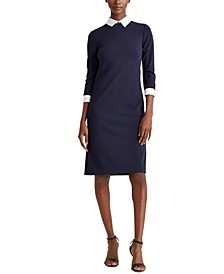 Collared Jersey Sheath Dress