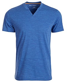 SUN + STONE Men's Eden Split Neck T-Shirt, Created For Macy's
