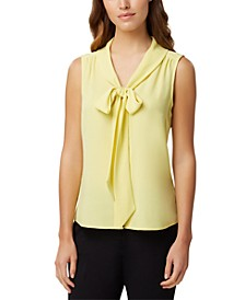 Bow-Neck Blouse