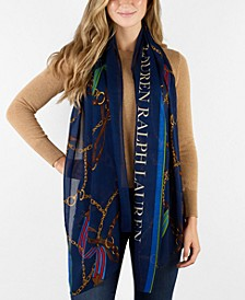 Andrea Heritage Print Oblong Scarf