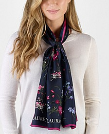 Laura Floral Silk Oblong Scarf
