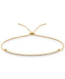 Diamond Bolo Bracelet (1/4 ct. t.w.) in 10k Gold