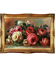 "by Overstockart Discarded Roses by Pierre-Auguste Renoir with Victorian Frame Oil Painting Wall Art, 44"" x 32"""