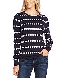 Vince Camuto Jacquard-Dot Sweater