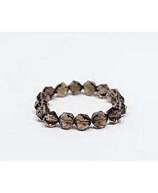 Luxe Faceted Smoky Quartz Gemstone Bracelet