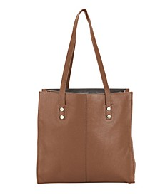 Genuine Leather Cafe Du Monde Tote