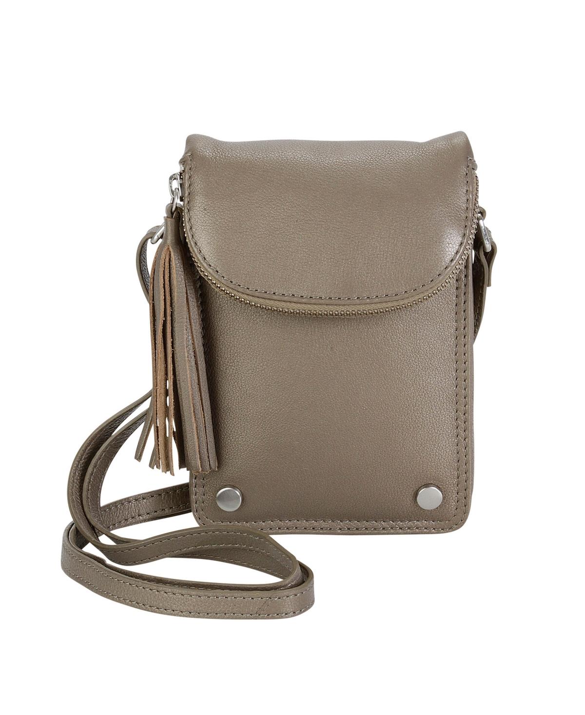 Hadaki Leather Mobile Crossbody