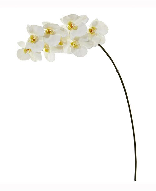 Nearly Natural 34in. Phalaenopsis Orchid Artificial Flower Set of 6