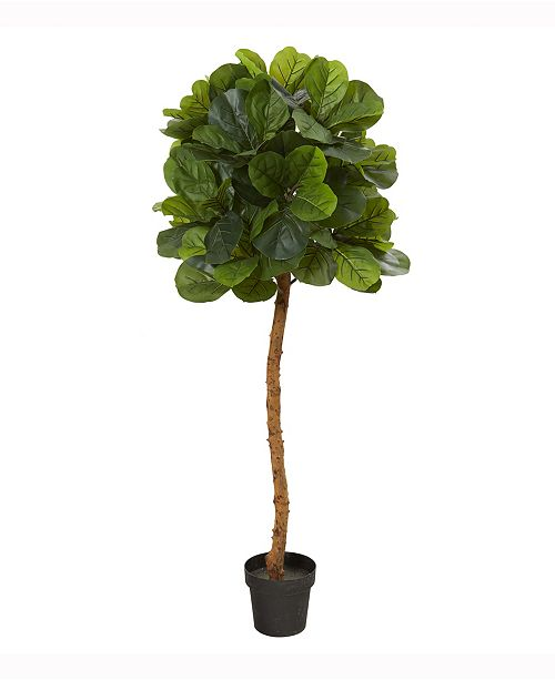 Nearly Natural 5ft. Fiddle Leaf Artificial Tree Real Touch